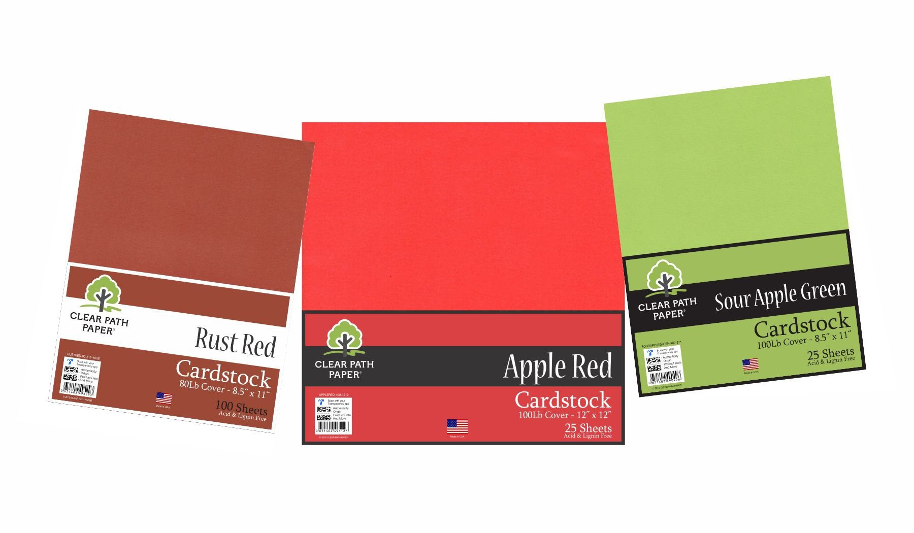 Image of the Rust Red / Apple Red / Sour Apple Green Bundle