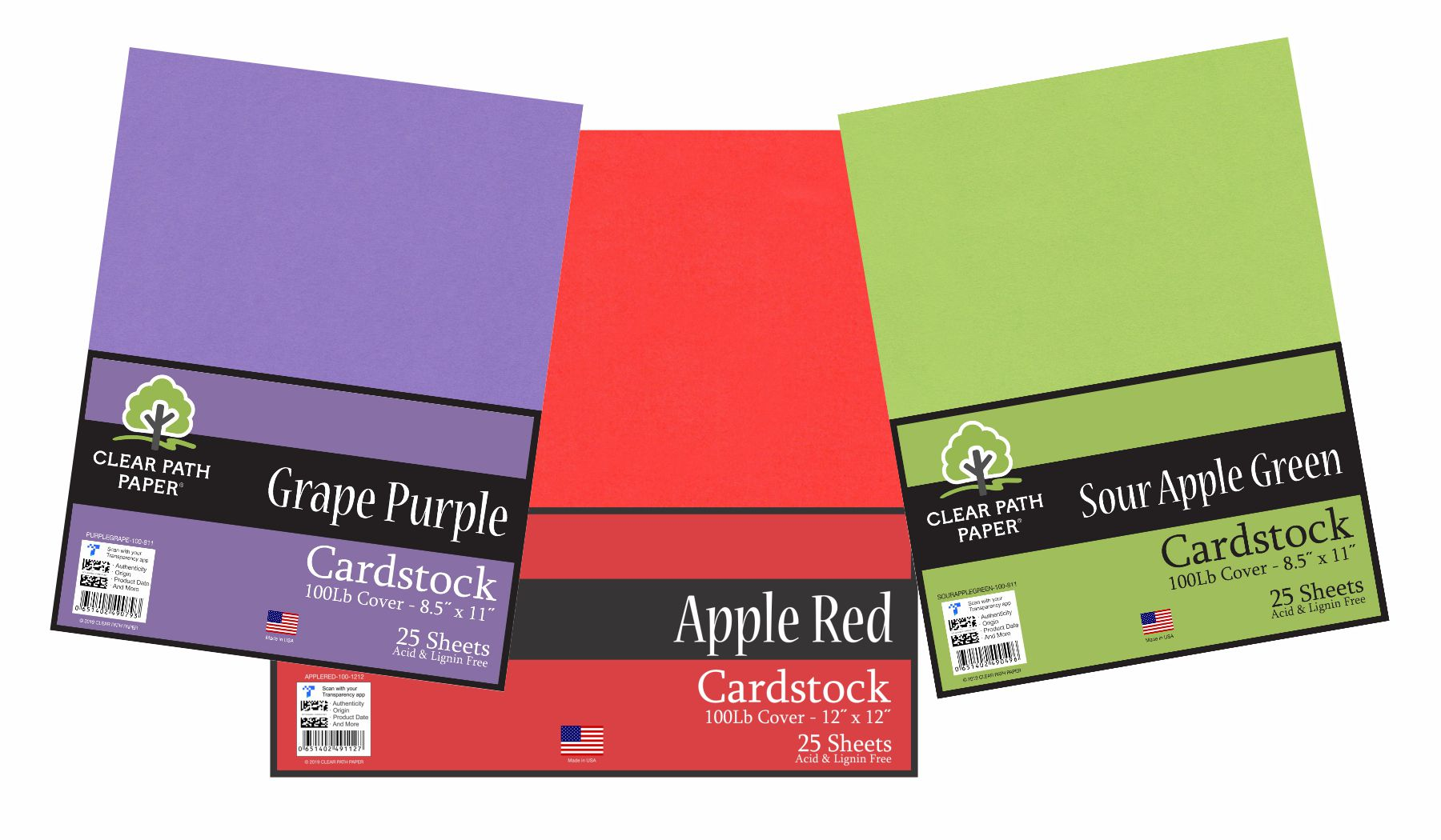 Image of the Grape Purple / Apple Red / Sour Apple Green Bundle