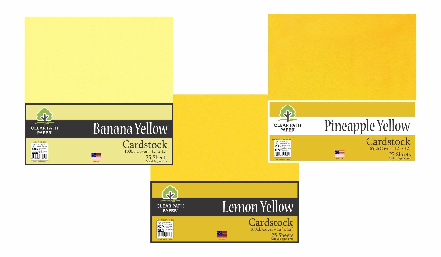 Image of the Lemon Yellow / Banana Yellow / Pineapple Yellow Bundle
