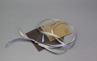 Image of Satin Ribbon on Brown Cardstock
