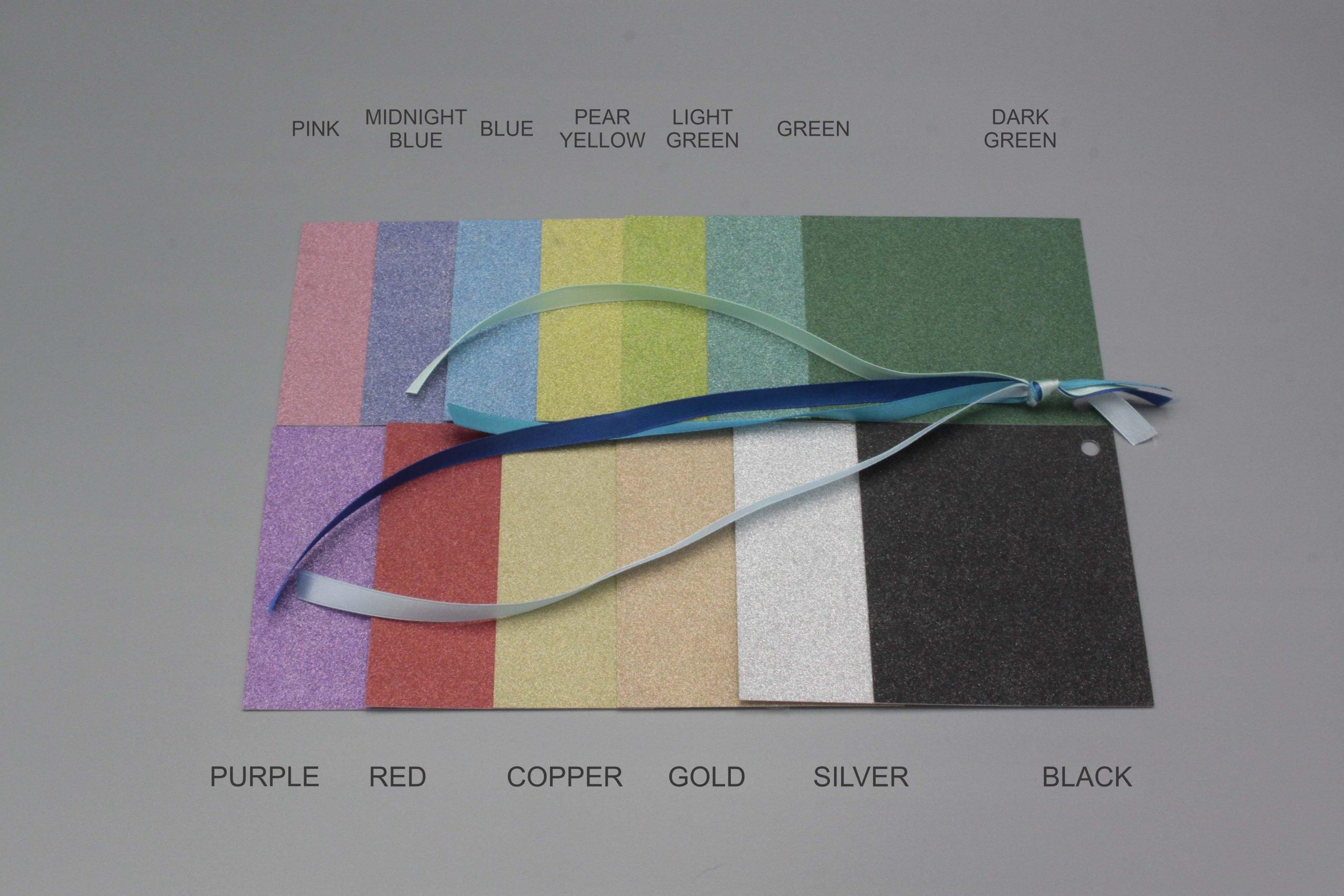 Image of Satin Ribbon on Glitter Cardstock