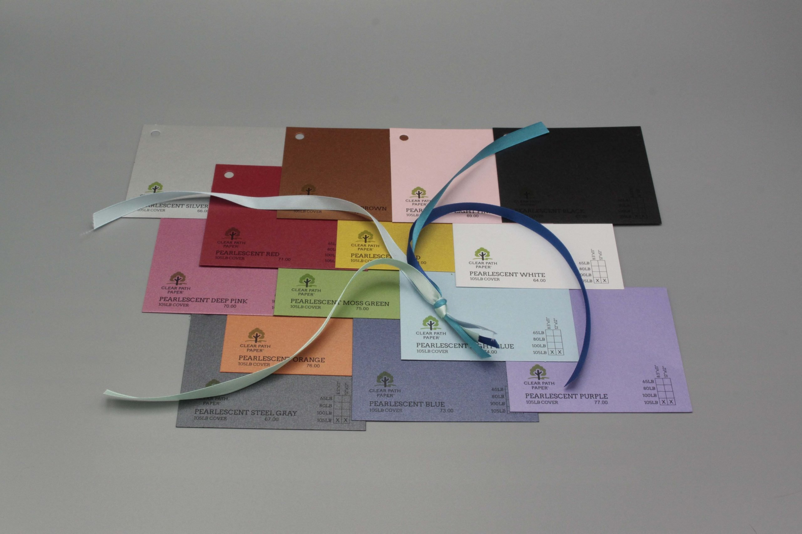 Image of Satin Ribbon on Pearlescent Cardstock
