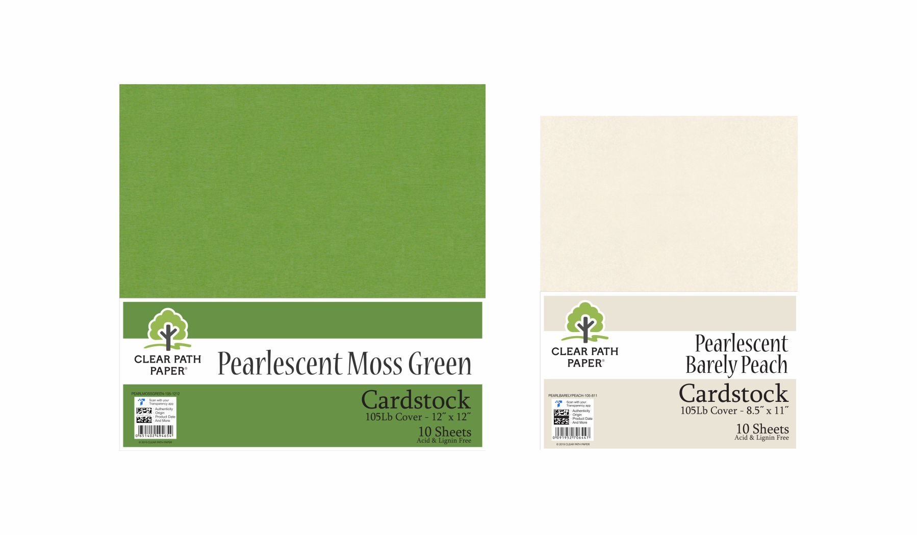 Image of an Amazon bundle of Pearlescent Moss Green and Pearlescent Barely Peach