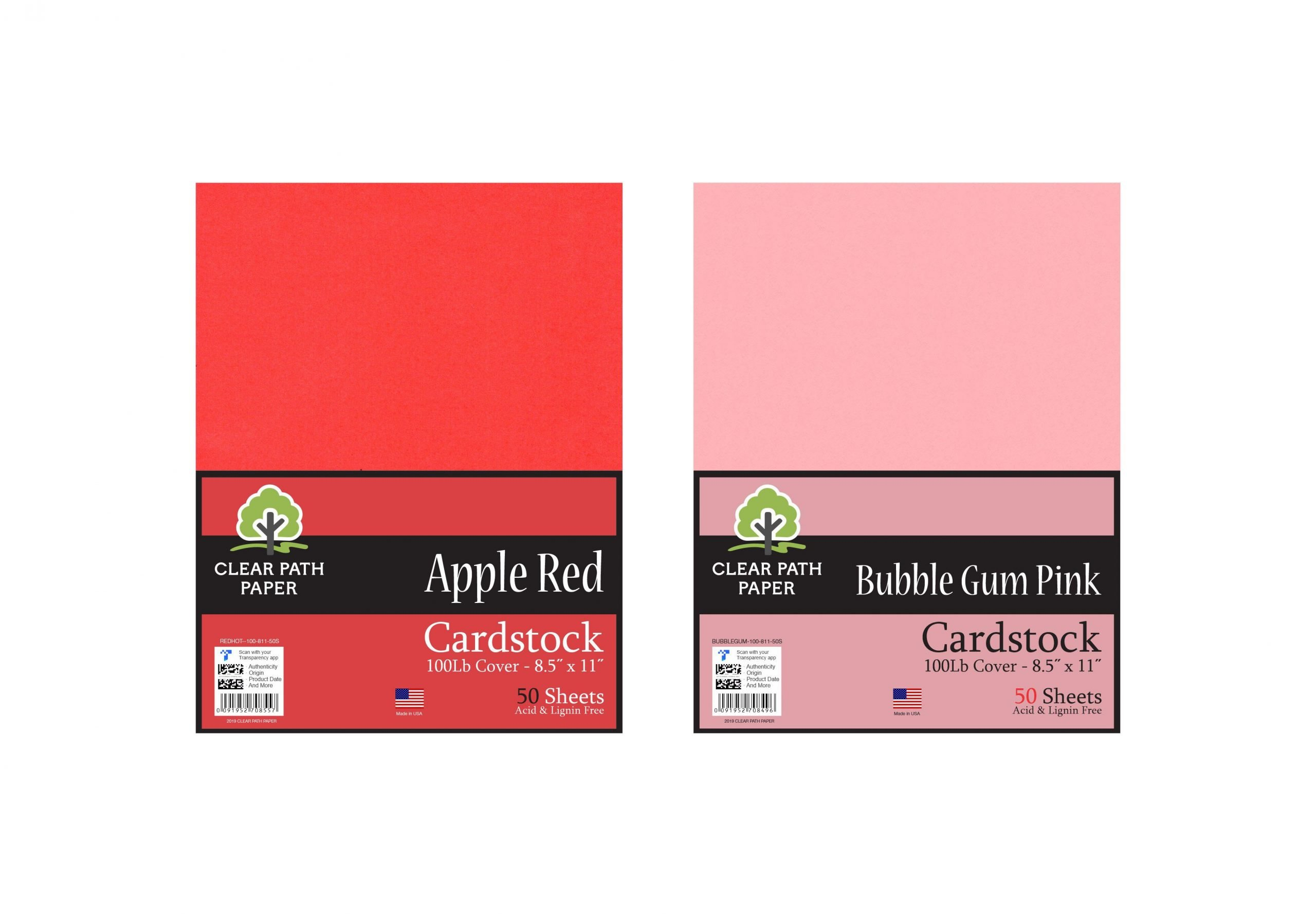 Apple Red & Bubble Gum Pink