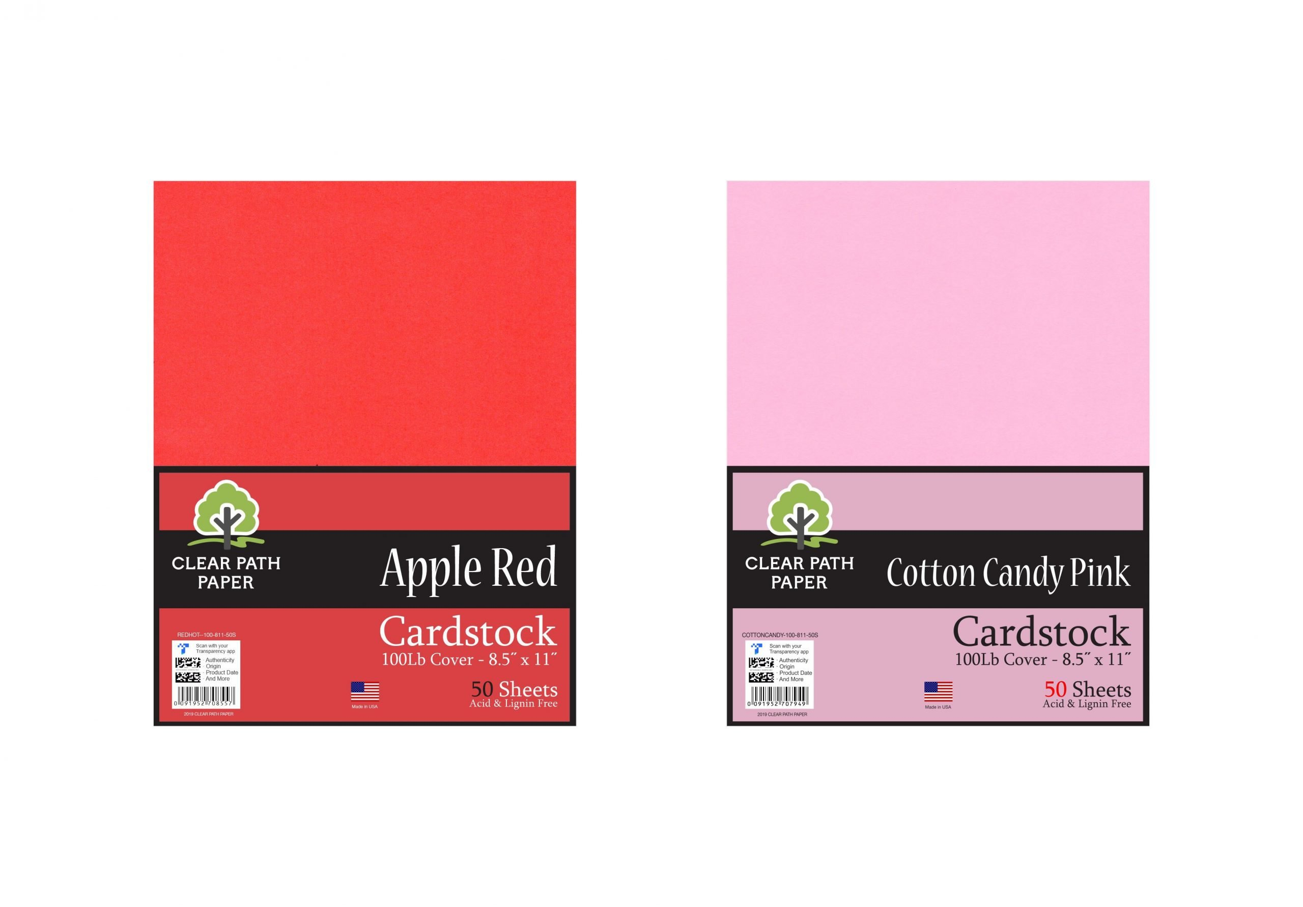 Apple Red & Cotton Candy Pink