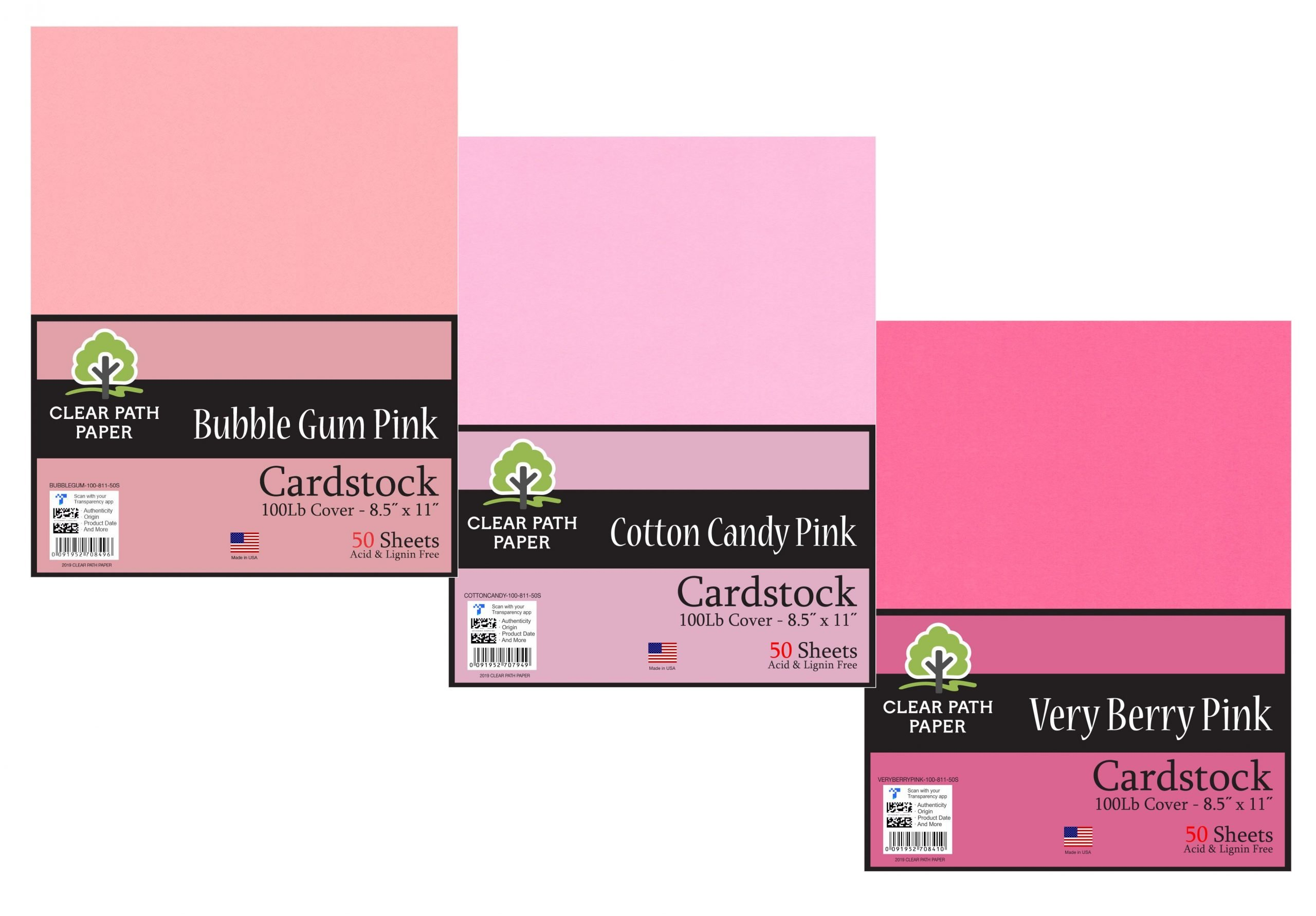 Cotton Candy Pink / Bubble Gum Pink / Very Berry Pink