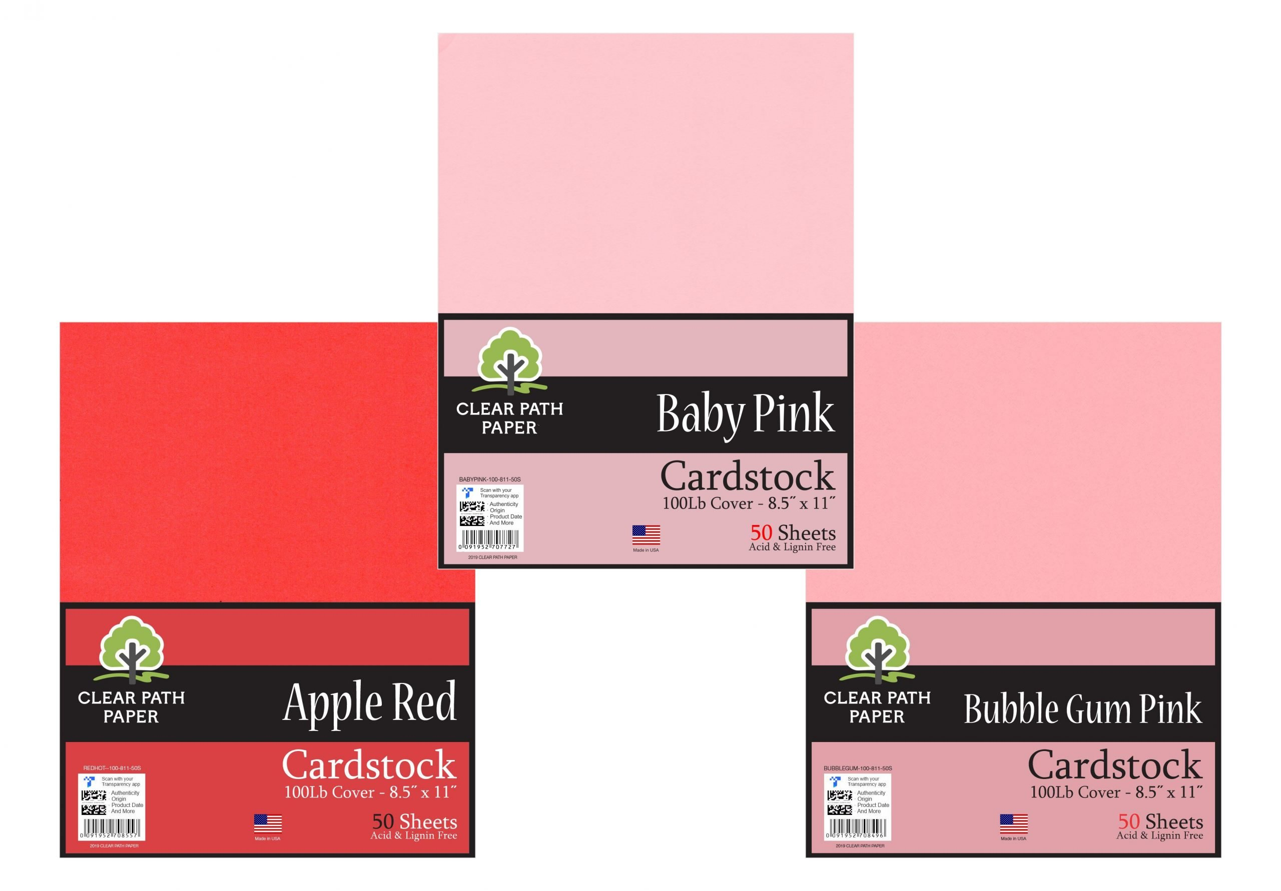 Baby Pink / Apple Red / Bubble Gum Pink