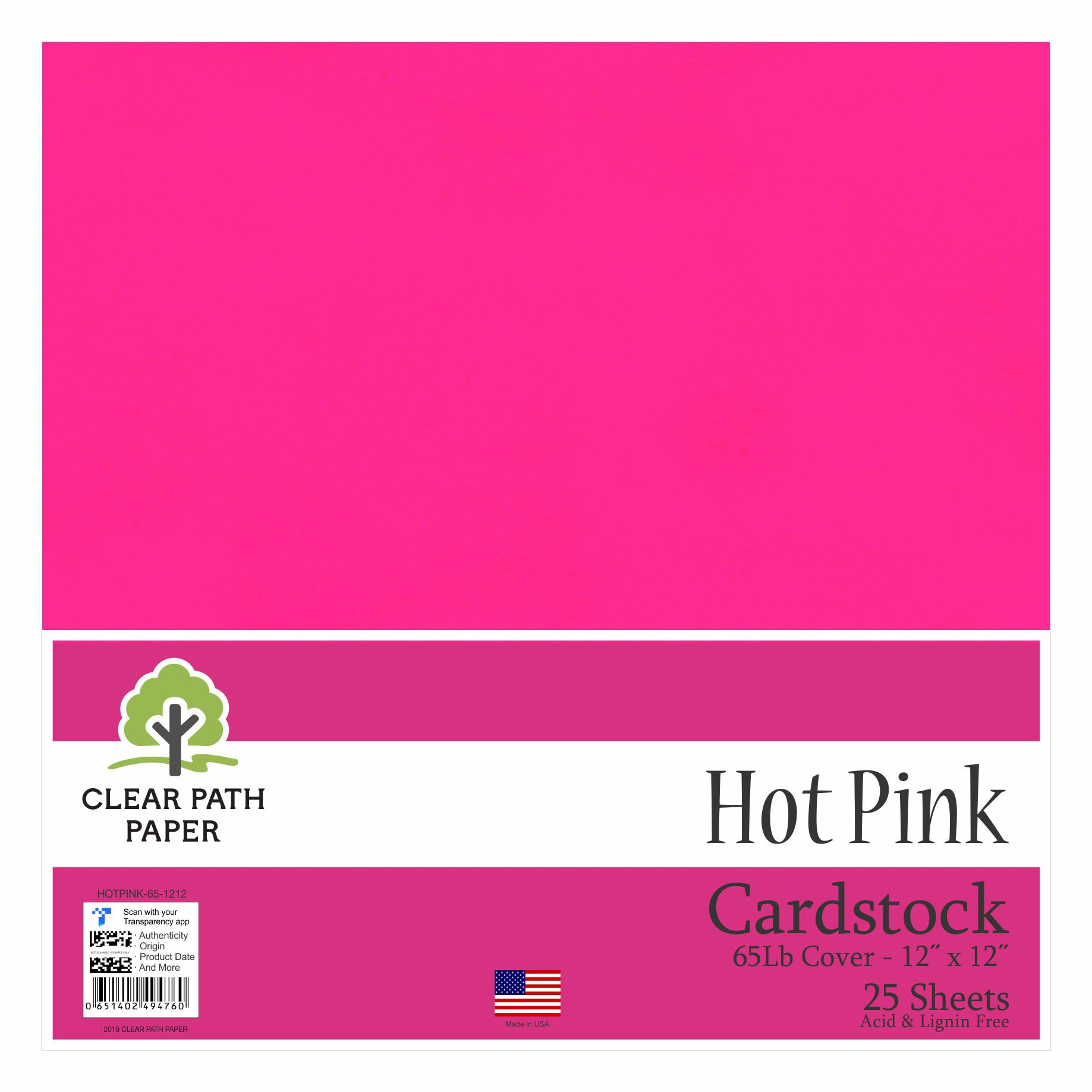 Image of a pack of Hot Pink Clear Path Paper cardstock.