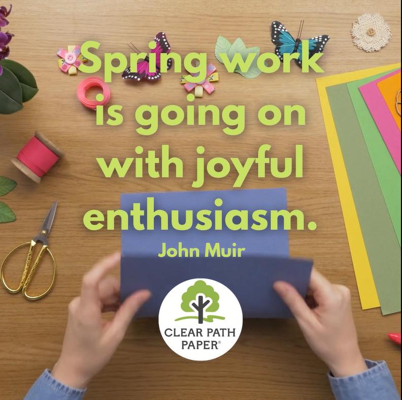 """Spring work is going on with joyful enthusiasm."" - John Muir"