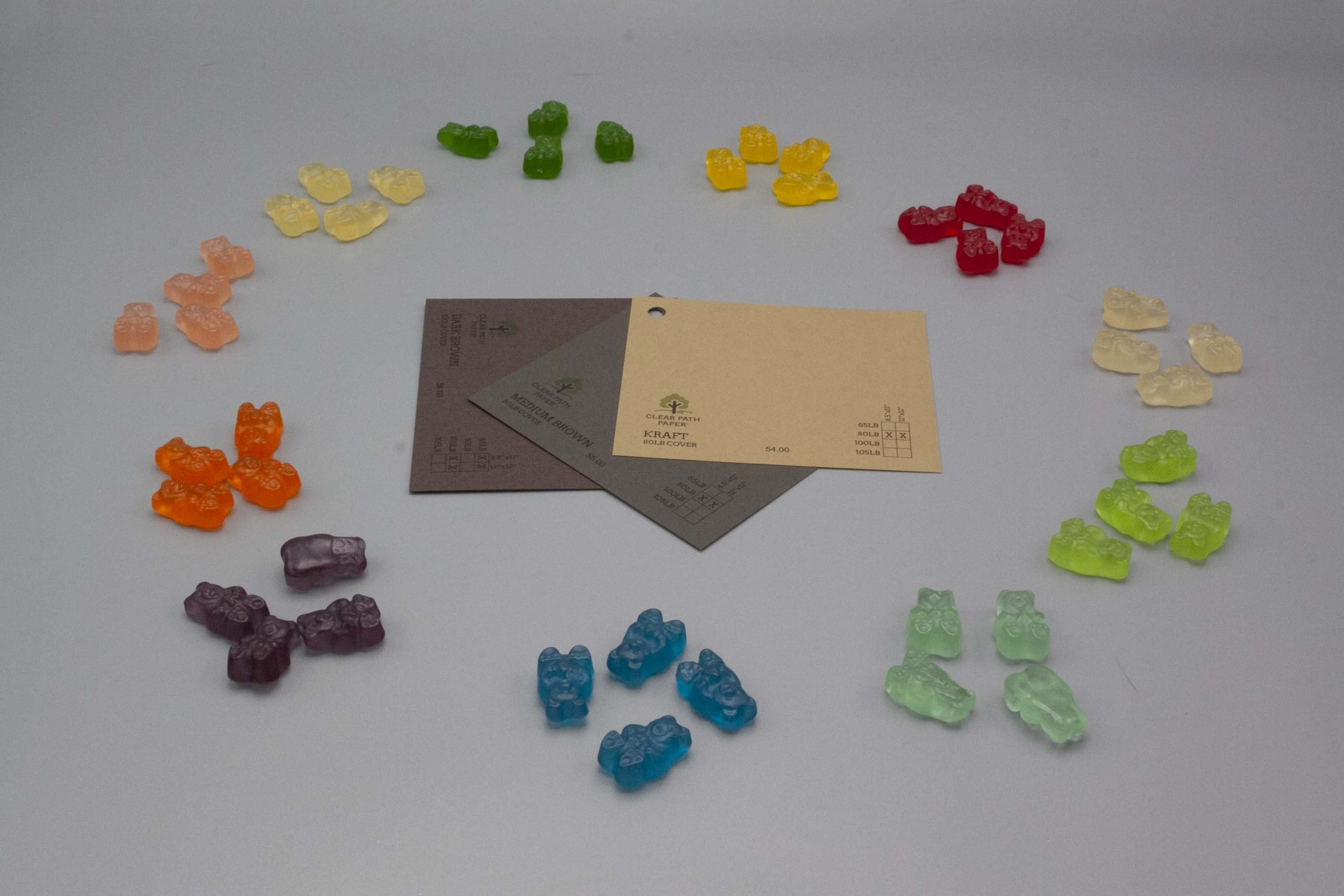 Image of Albanese Gummi Candies with Brown Cardstock