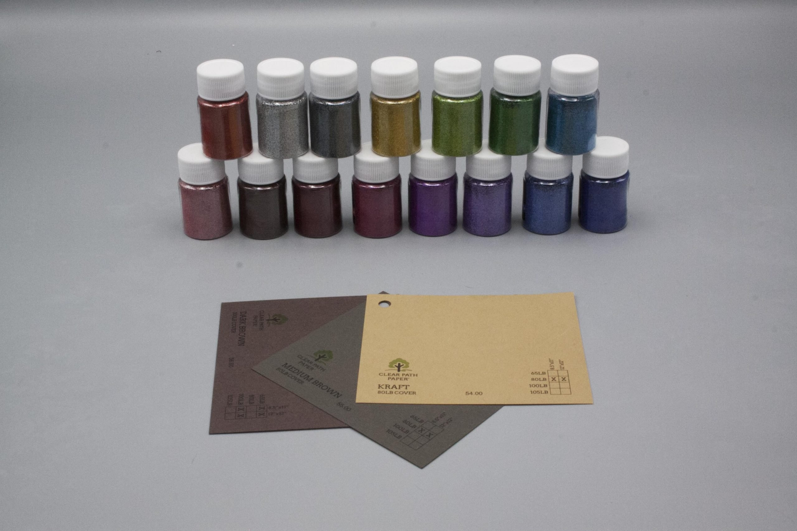 Image of LETS RESIN Glitter Powder with Brown Cardstock