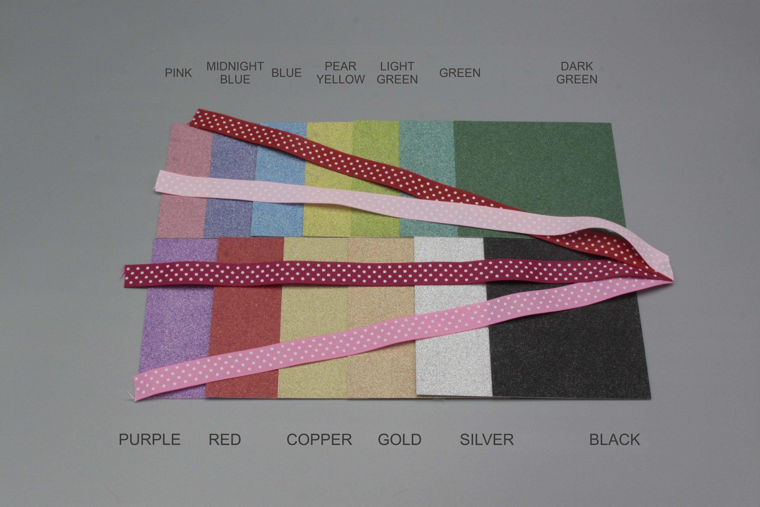 Image of Polka Dot Ribbon on Glitter Cardstock
