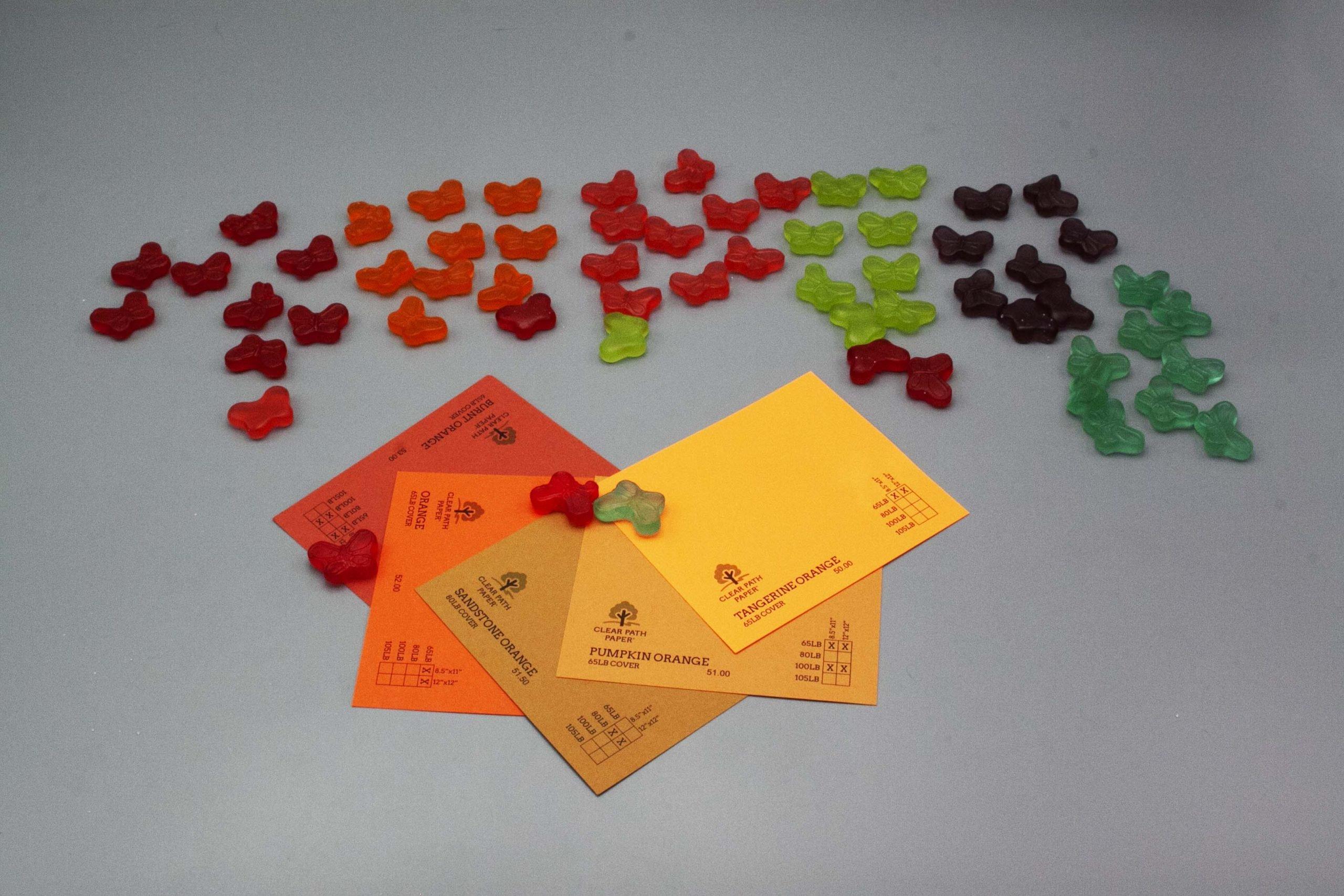 Image of Albanese Gummi Candies with Orange Cardstock