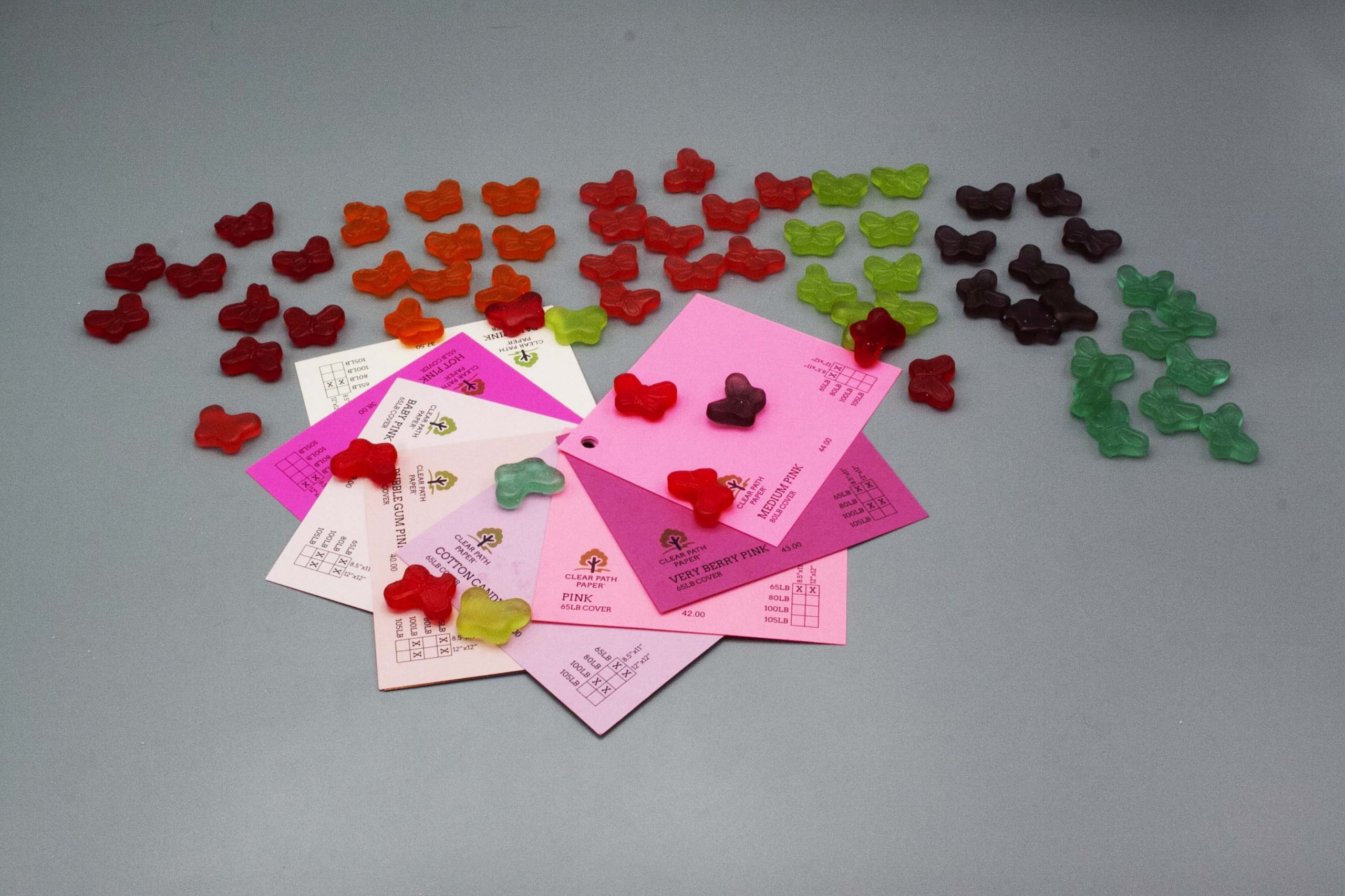 Image of Albanese Gummi Candies with Pink Cardstock