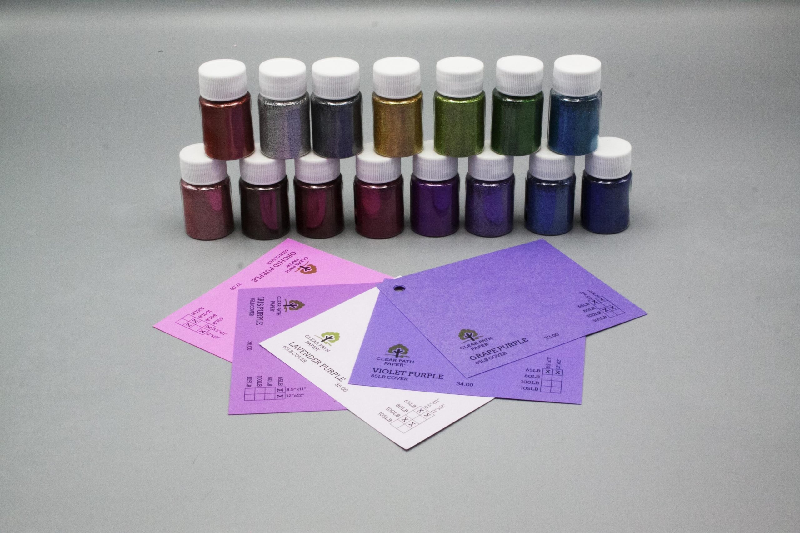 Image of LETS RESIN Glitter Powder with Purple Cardstock