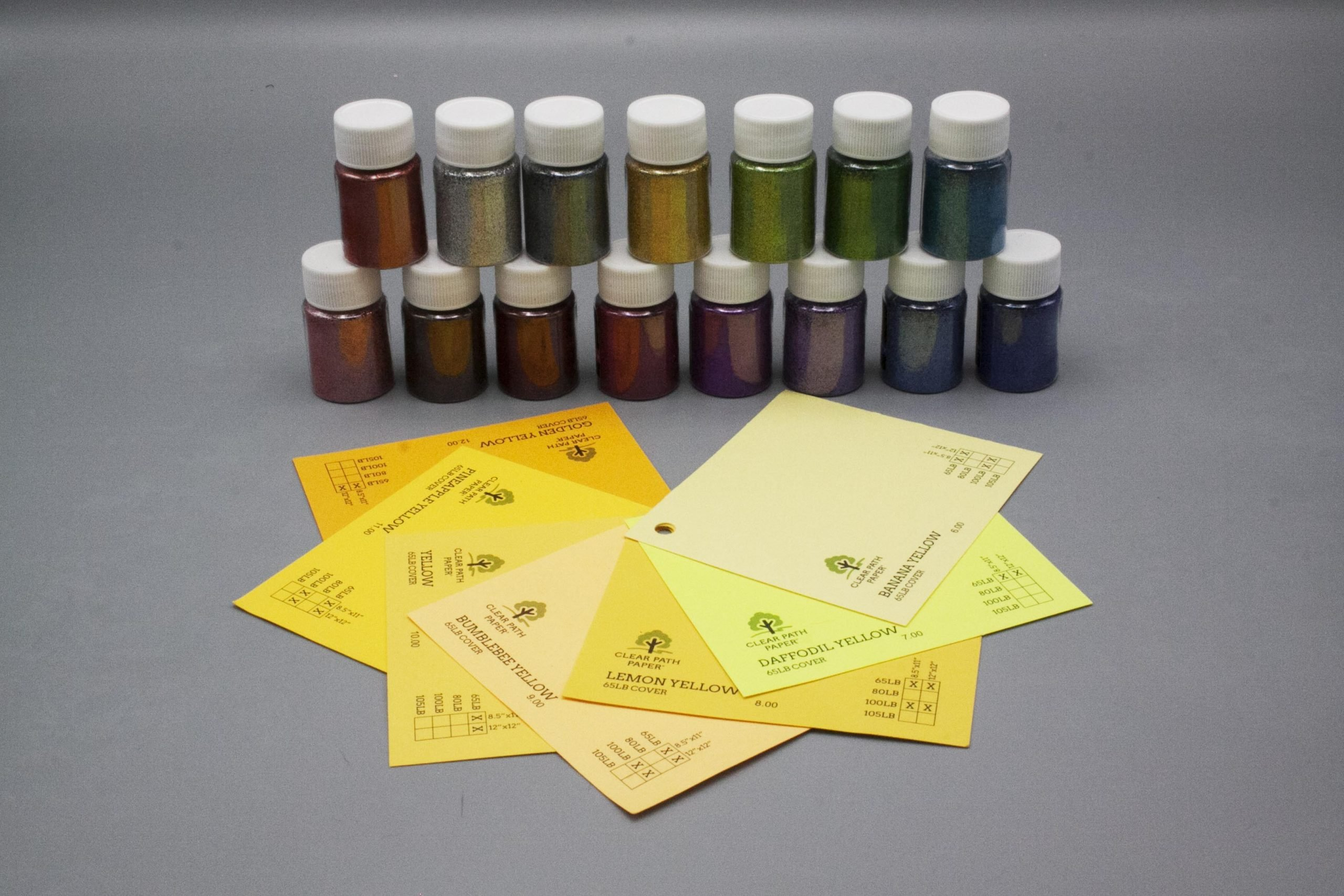 Image of LETS RESIN Glitter Powder with Yellow Cardstock