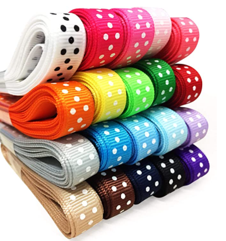 An image of VATIN Assorted Color Single Faced Satin Ribbon in several colors
